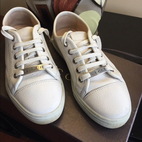 """ade48eb108a Gucci Shoes - """"Gucci """" sneakers size 35G fits size 6 ."""